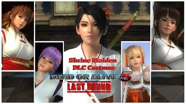 Dead or alive 5 Last Round All Girls Shrine Maiden DLC Costume. HD