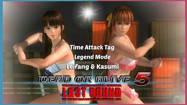 Dead or alive 5 Last Round Leifang and Kasumi Time Attack Tag Legend Mode. HD