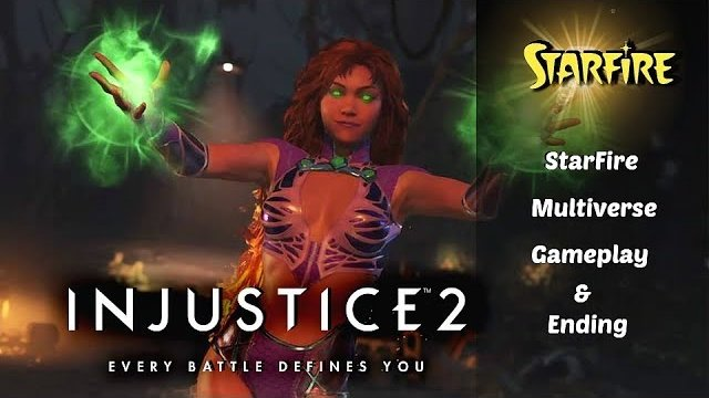Injustice 2 StarFire Multiverse Gameplay & ending. HD