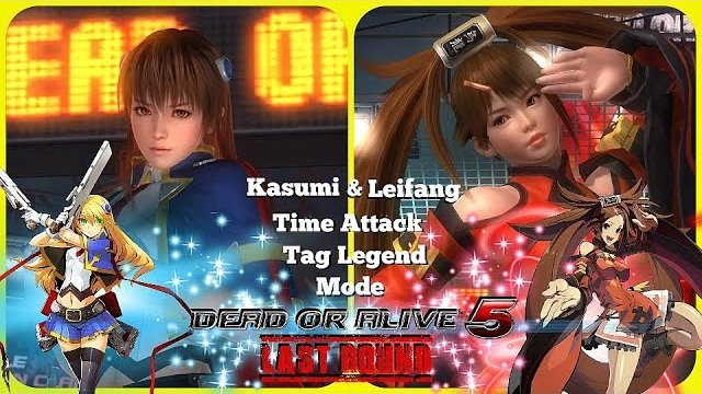 Dead or alive 5 Last Round Kasumi and Leifang Time Attack Tag Legend Mode. HD